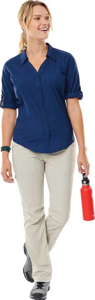 Women's Royal Robbins Expedition Chill Stretch 3/4 Sleeve Shirt, Deep Blue, large, image 1