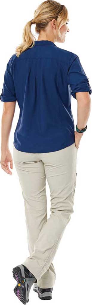 Women's Royal Robbins Expedition Chill Stretch 3/4 Sleeve Shirt, Deep Blue, large, image 2