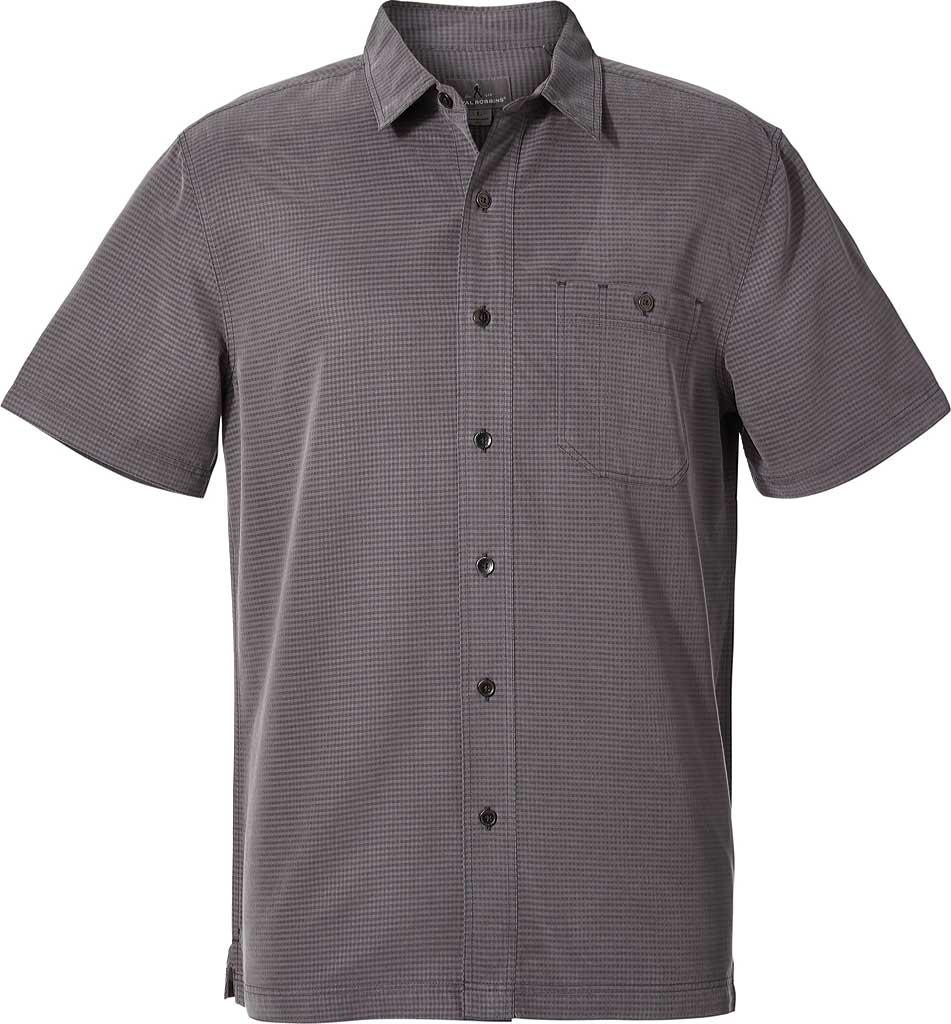 Men's Royal Robbins Mojave Pucker Dry Short Sleeve Shirt, Asphalt, large, image 1