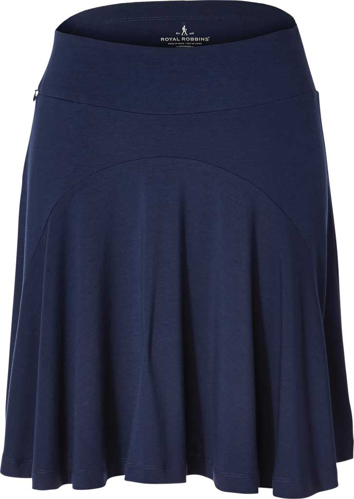 Women's Royal Robbins Essential Tencel Pleated Skirt, Deep Blue, large, image 1