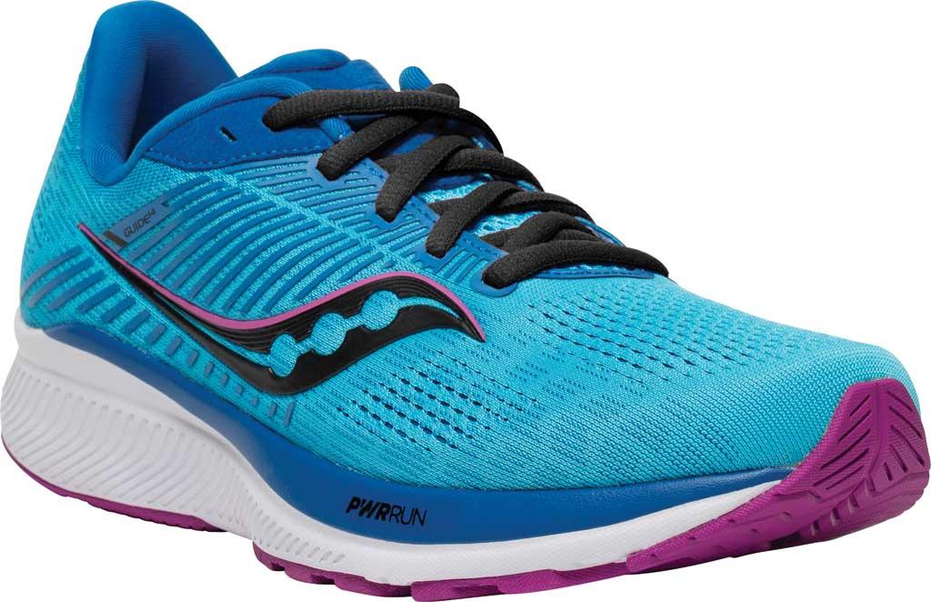 Women's Saucony Guide 14 Running Sneaker, Blue Blaze/Berry, large, image 1