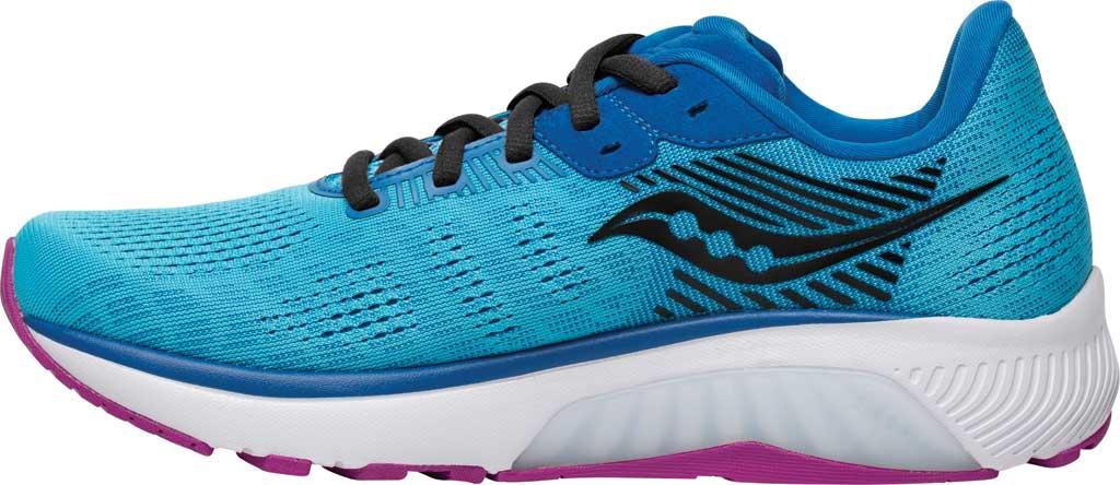 Women's Saucony Guide 14 Running Sneaker, Blue Blaze/Berry, large, image 3