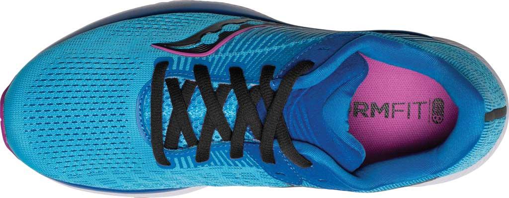 Women's Saucony Guide 14 Running Sneaker, Blue Blaze/Berry, large, image 4