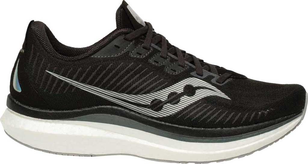 Men's Saucony Endorphin Speed 2 Running Sneaker, Black/Shadow, large, image 1