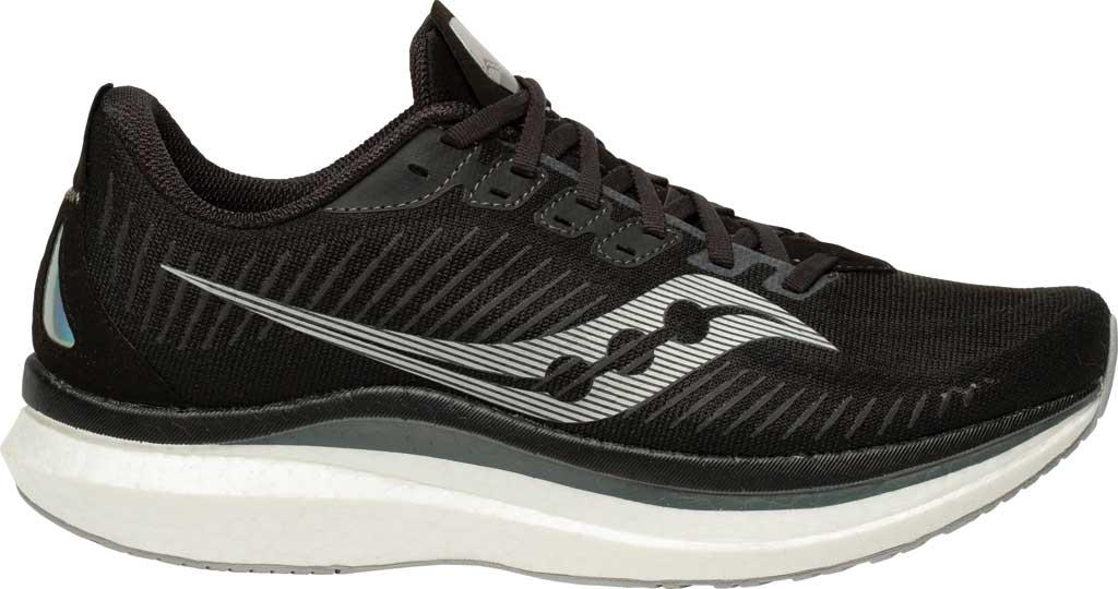 Men's Saucony Endorphin Speed 2 Running Sneaker, Black/Shadow, large, image 2