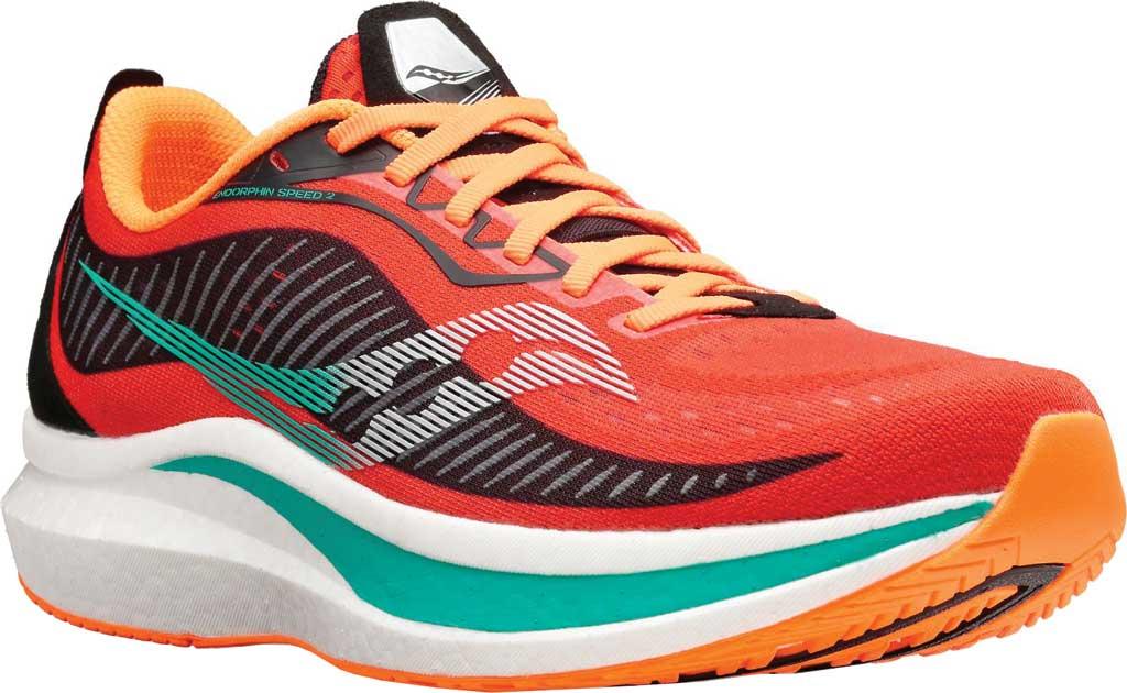 Men's Saucony Endorphin Speed 2 Running Sneaker, Scarlet/Black, large, image 1