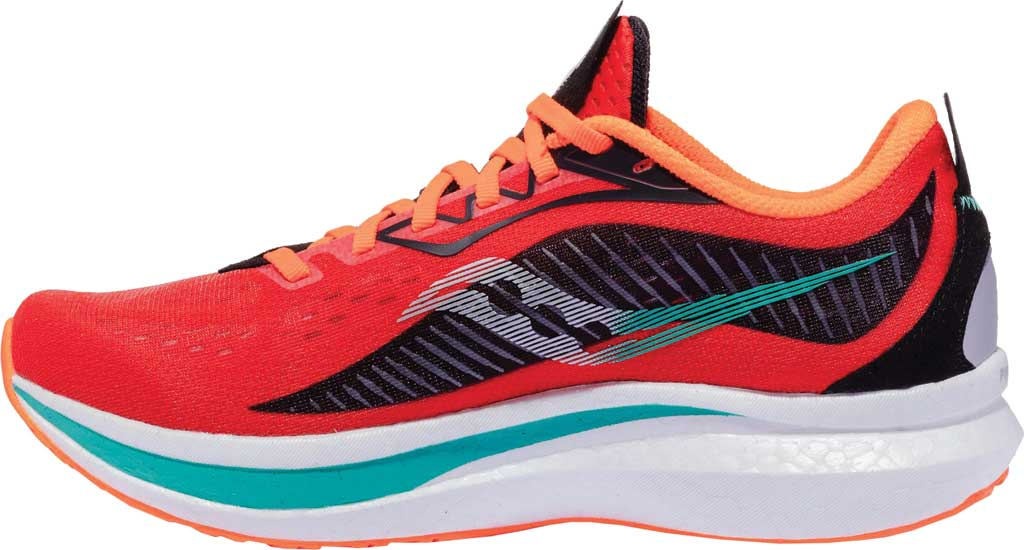 Men's Saucony Endorphin Speed 2 Running Sneaker, Scarlet/Black, large, image 3