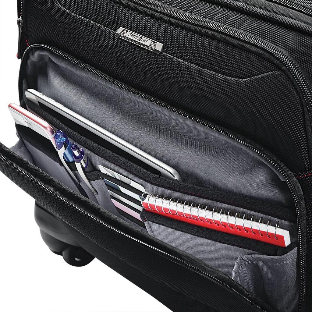 Samsonite Xenon 3.0 Spinner Mobile Office Bag, Black, large, image 3