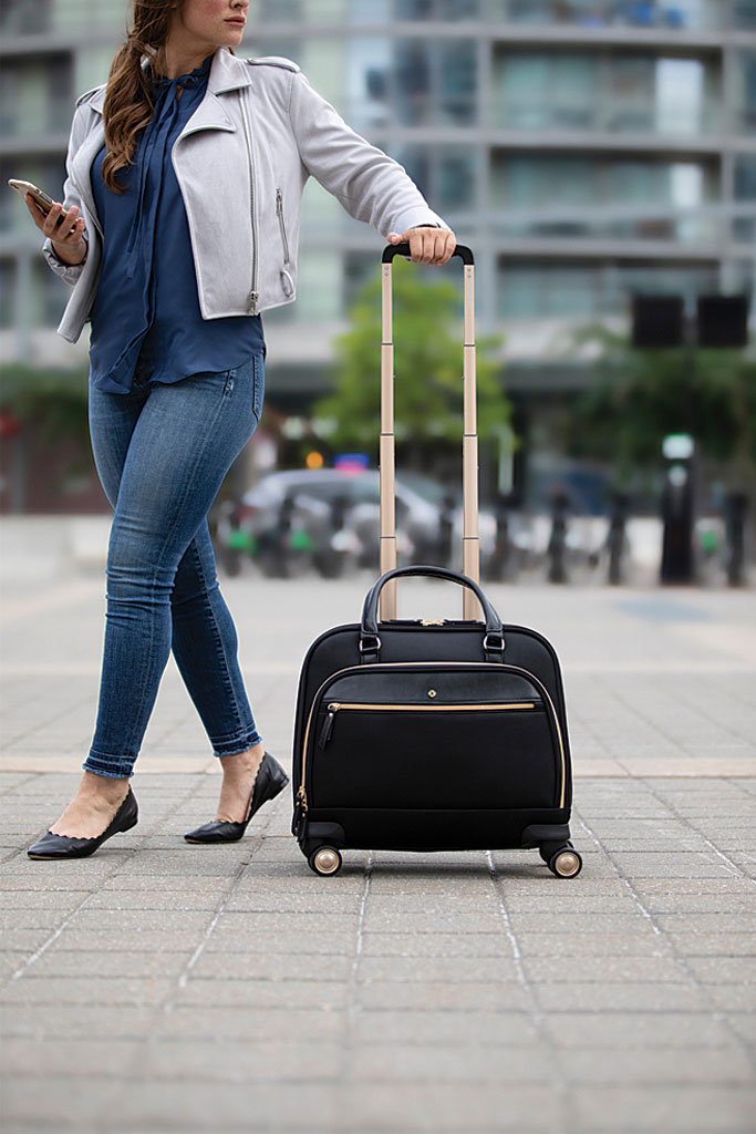 Women's Samsonite Mobile Solutions Spinner Briefcase, Black, large, image 6