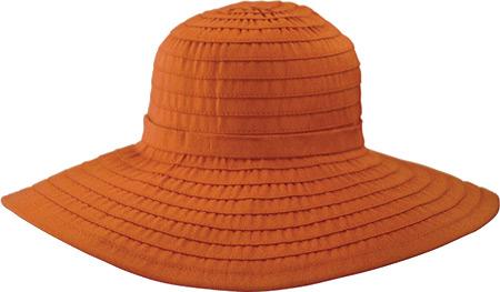 Women's San Diego Hat Company Ribbon Large Brim Hat w/ Bow RBL299, Rust, large, image 1