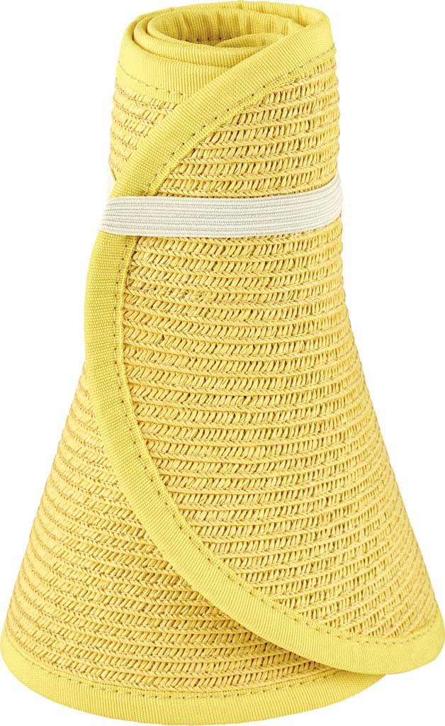 Women's San Diego Hat Company Ultrabraid Large Brim Visor UBV002, Yellow, large, image 1