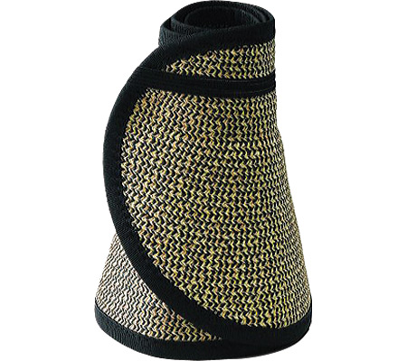 Women's San Diego Hat Company Ultrabraid Large Brim Visor UBV002, Multi Black, large, image 1