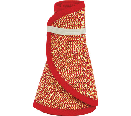 Women's San Diego Hat Company Ultrabraid Large Brim Visor UBV002, Multi Red, large, image 1