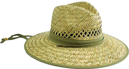 Men's San Diego Hat Company Rush Straw Outback Hat RSM540, Natural/Olive, large, image 1