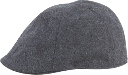 Men's San Diego Hat Company 6 Panel Flex Fit Driver CTH3722, Charcoal, large, image 1