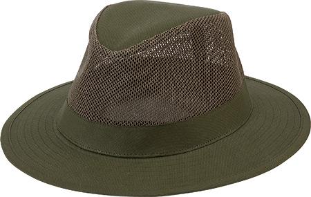 Men's San Diego Hat Company Canvas Fedora OCM4614, Olive, large, image 1