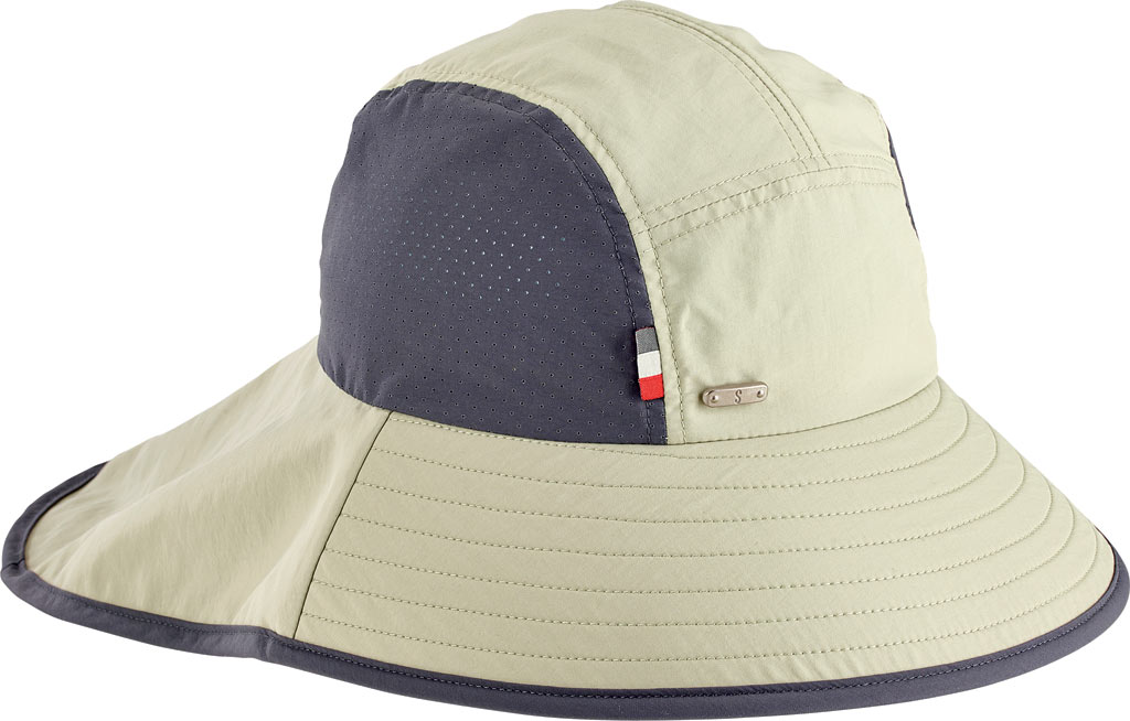 Men's San Diego Hat Company Outdoor Perf Inset and Neck Flap Hat OCM4622, Khaki, large, image 1
