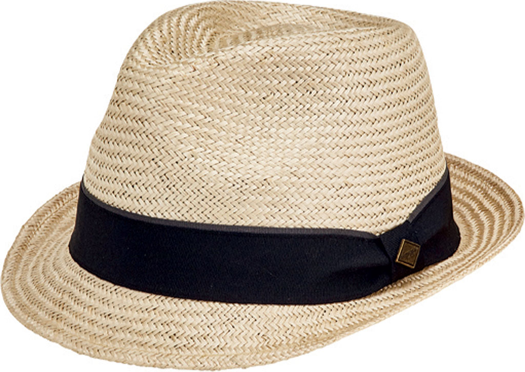 Men's San Diego Hat Company Sisal Fedora with Stripe Grosgrain SDH3049, Natural, large, image 1