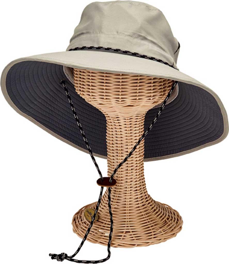 Men's San Diego Hat Company Wide Brim Outdoor Hat OCM4654, Grey, large, image 1