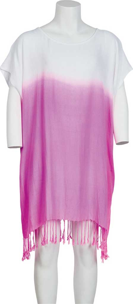 Girls' San Diego Hat Company Tunic Dip Dye with Fringe BSK1809, Pink, large, image 1