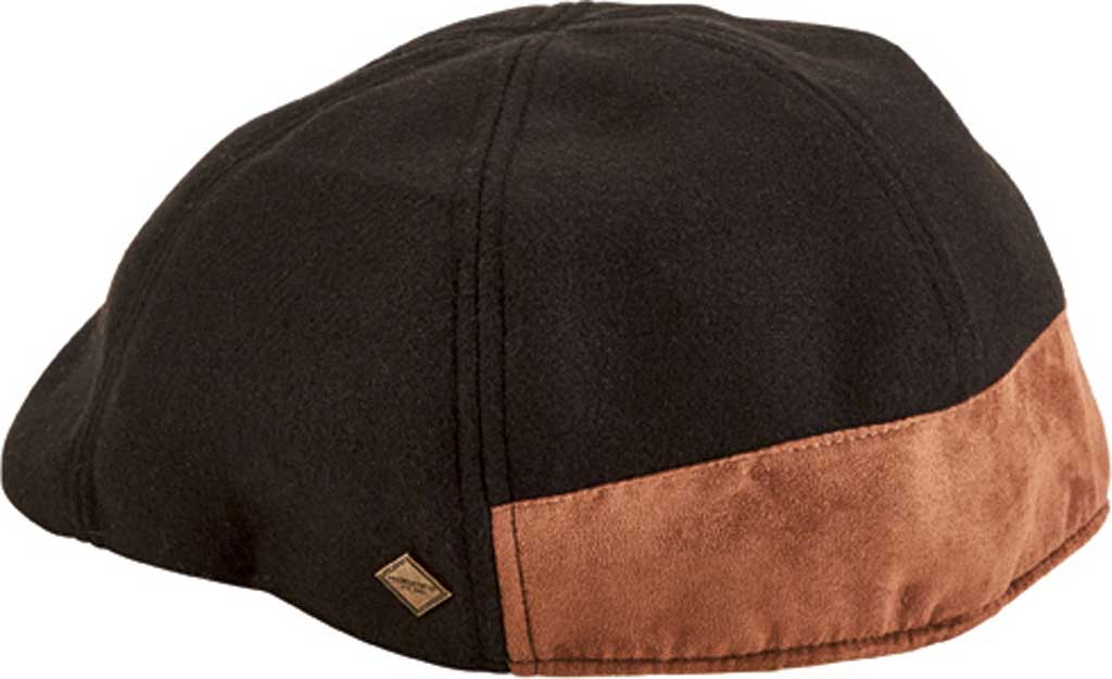 Men's San Diego Hat Company 6-Panel Driver Flat Cap with Back Panel SDH3314, Black, large, image 2