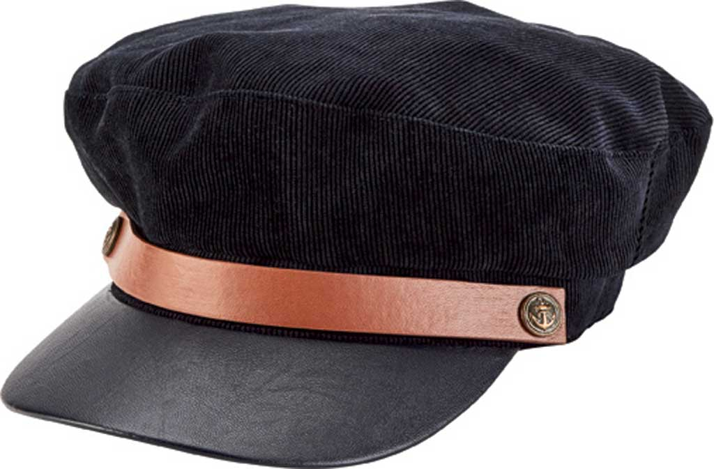 Men's San Diego Hat Company Corduroy Fisherman's Newsboy Cap SDH3310, Navy, large, image 1