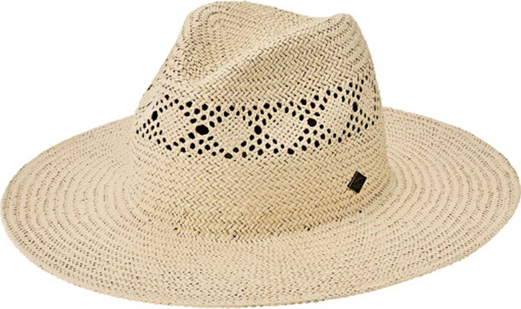 Men's San Diego Hat Company Paper Detailed Inset Fedora SDH3317, Natural, large, image 1