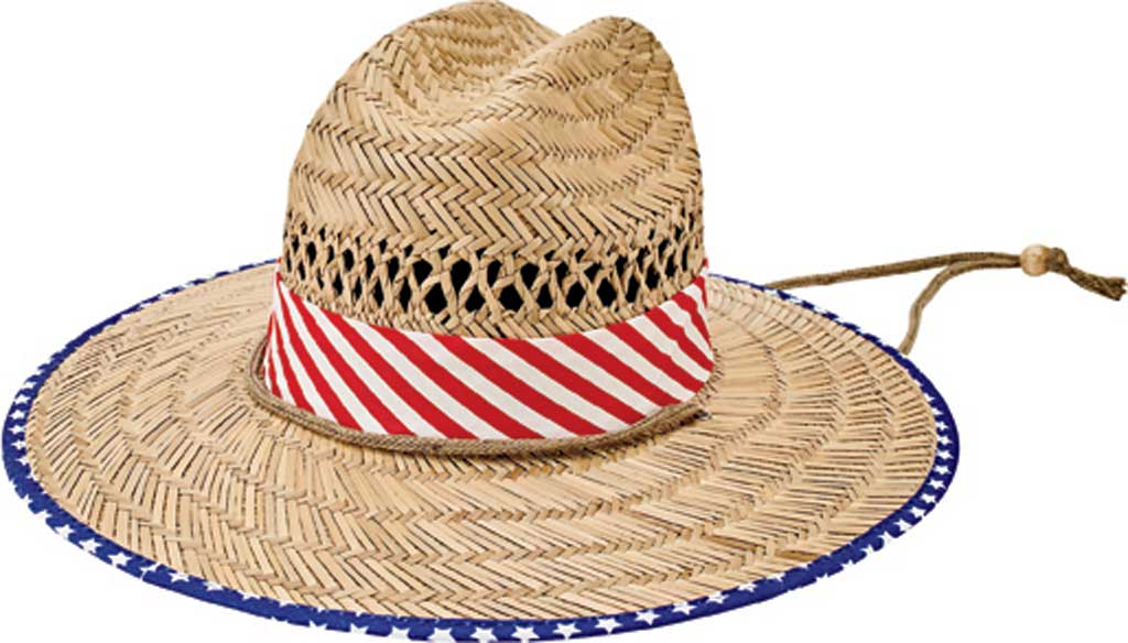 Children's San Diego Hat Company Rush Straw Hat RSK5453, Multi, large, image 1