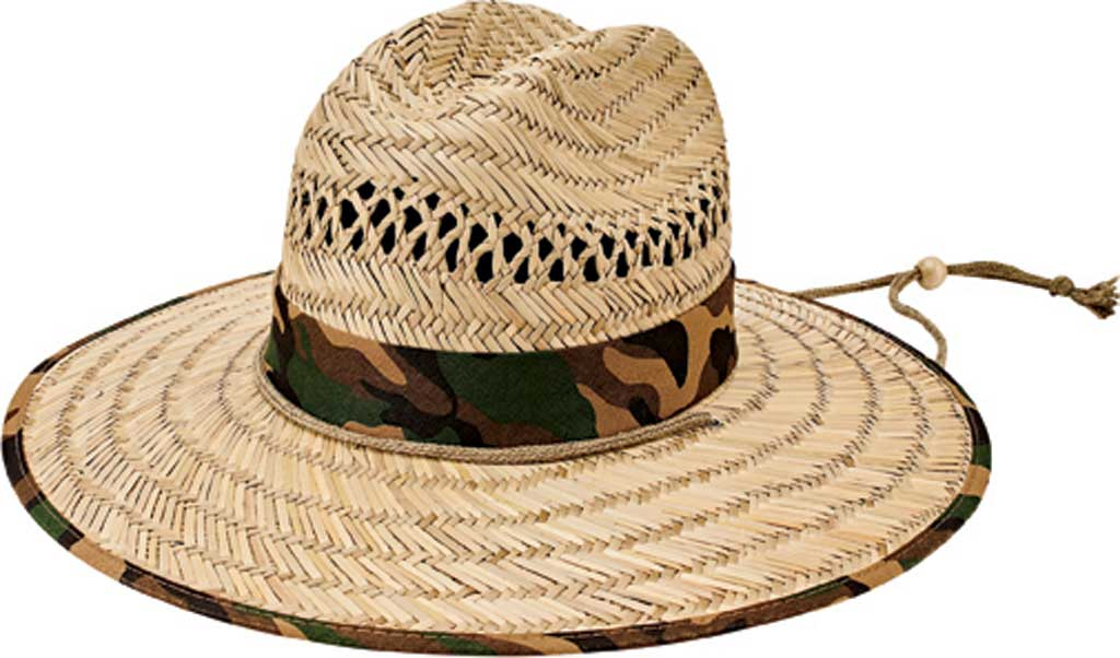 Children's San Diego Hat Company Rush Straw Hat RSK5453, Camo, large, image 1