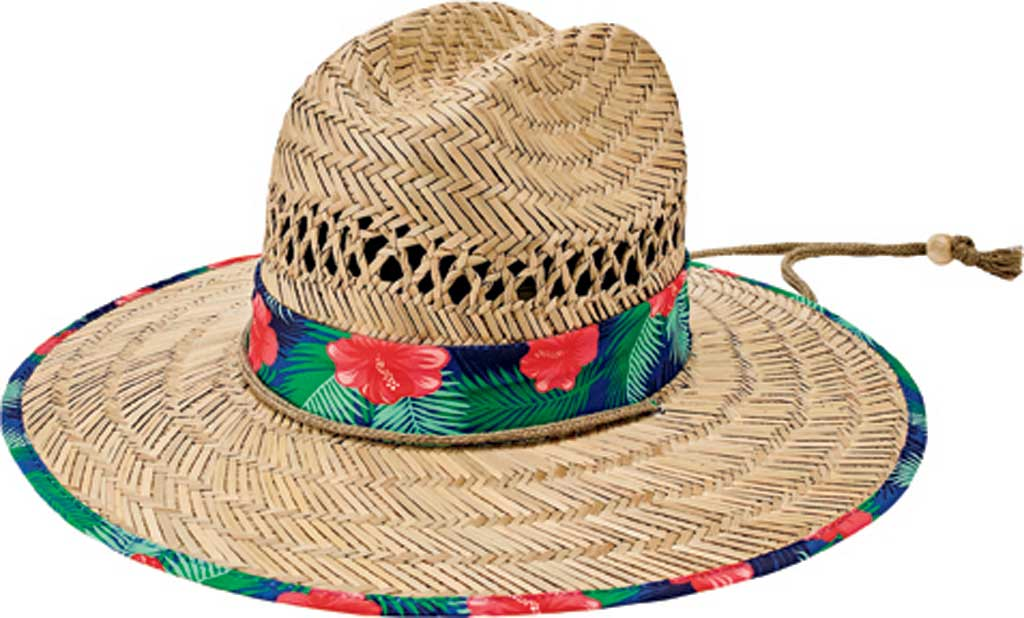 Children's San Diego Hat Company Rush Straw Hat RSK5453, Hibiscus, large, image 1