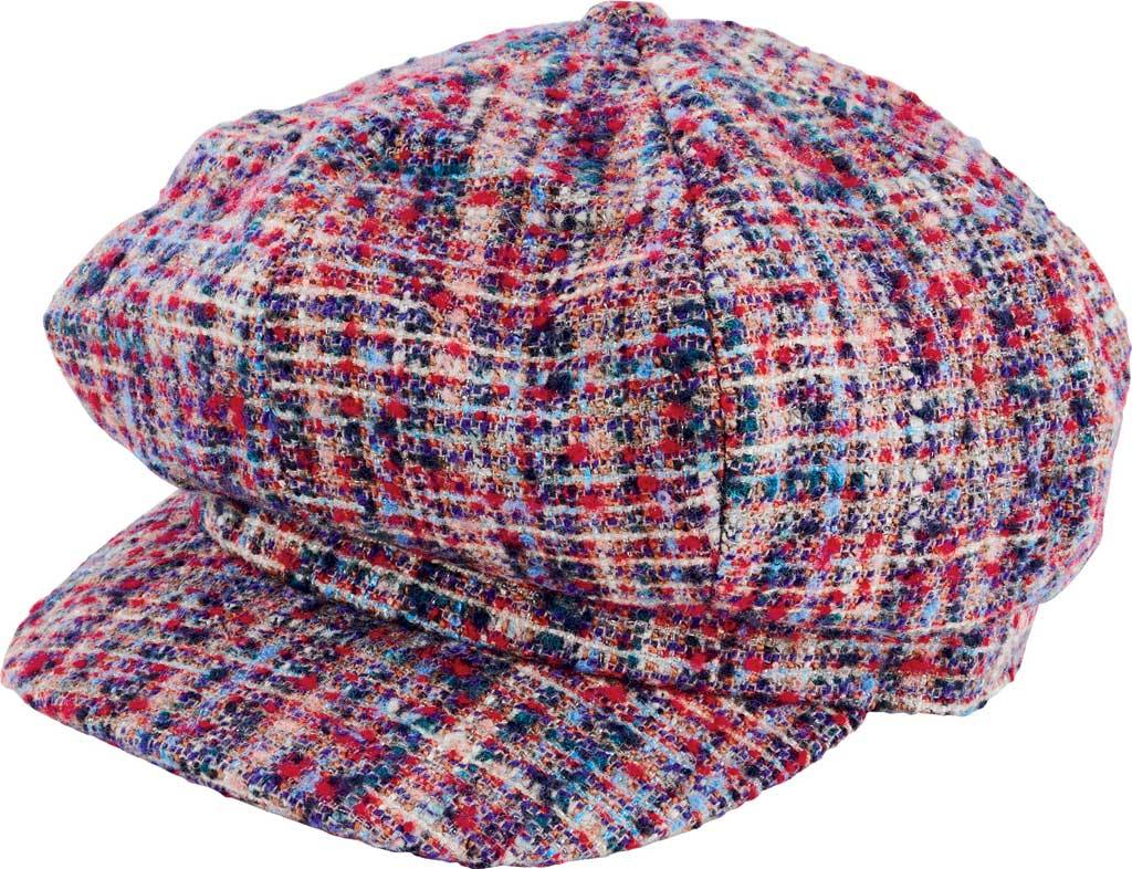 Women's San Diego Hat Company Greek Fisherman Cord Cap CTH8162, Blue, large, image 1
