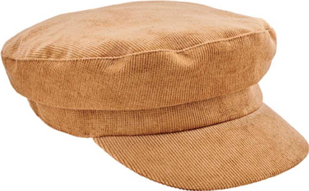 Women's San Diego Hat Company Greek Fisherman Cord Cap CTH8162, Camel, large, image 1