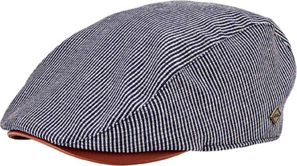 Men's San Diego Hat Company Linen Blend Stripe Driver Cap SDH3323, Navy, large, image 1