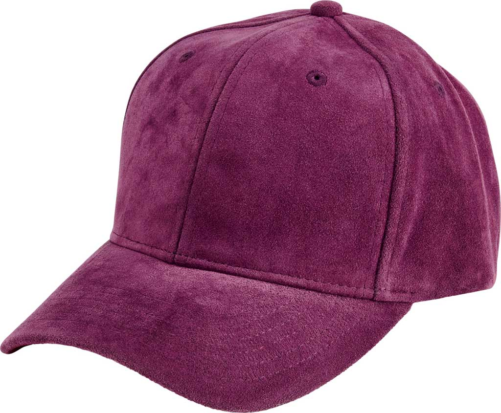 Women's San Diego Hat Company Faux Suede Baseball Cap CTH8169, Purple, large, image 1