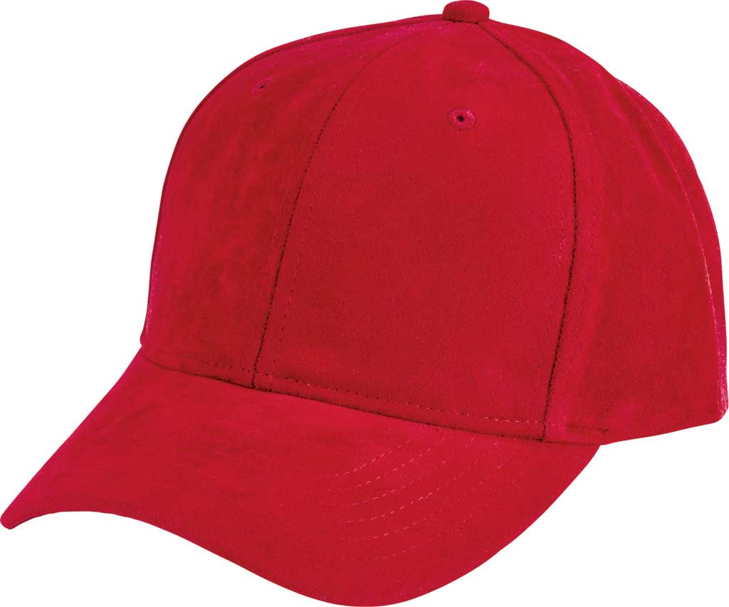Women's San Diego Hat Company Faux Suede Baseball Cap CTH8169, Red, large, image 1