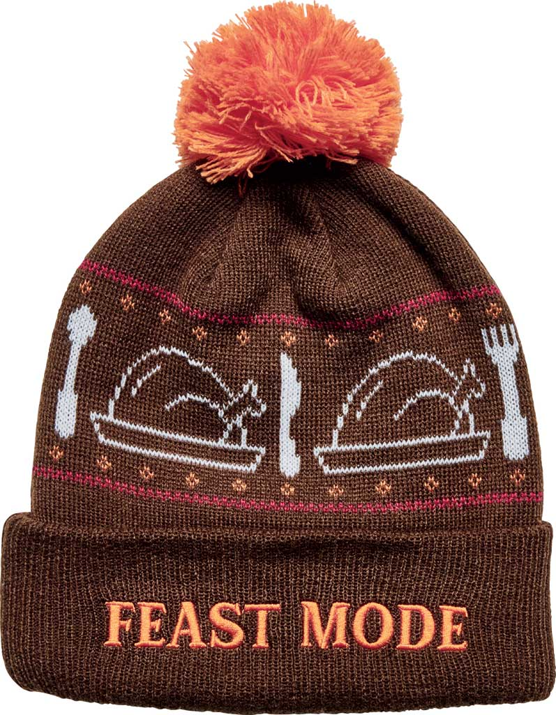 San Diego Hat Company Feast Mode Beanie KNH2016, Brown, large, image 1