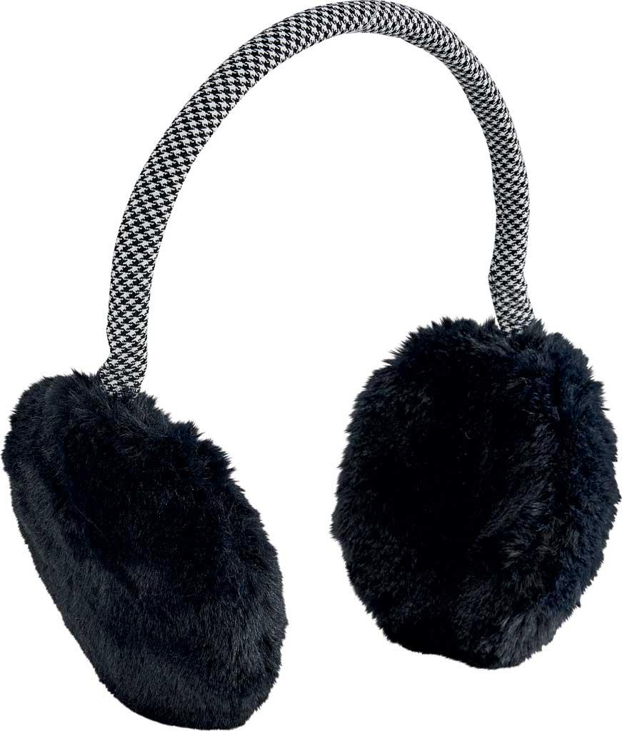 Women's San Diego Hat Company Faux Fur Neon Earmuff KNH5027, Black, large, image 1