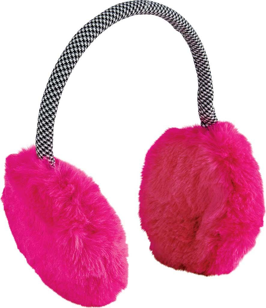 Women's San Diego Hat Company Faux Fur Neon Earmuff KNH5027, Pink, large, image 1