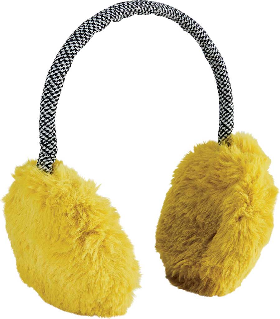 Women's San Diego Hat Company Faux Fur Neon Earmuff KNH5027, Yellow, large, image 1