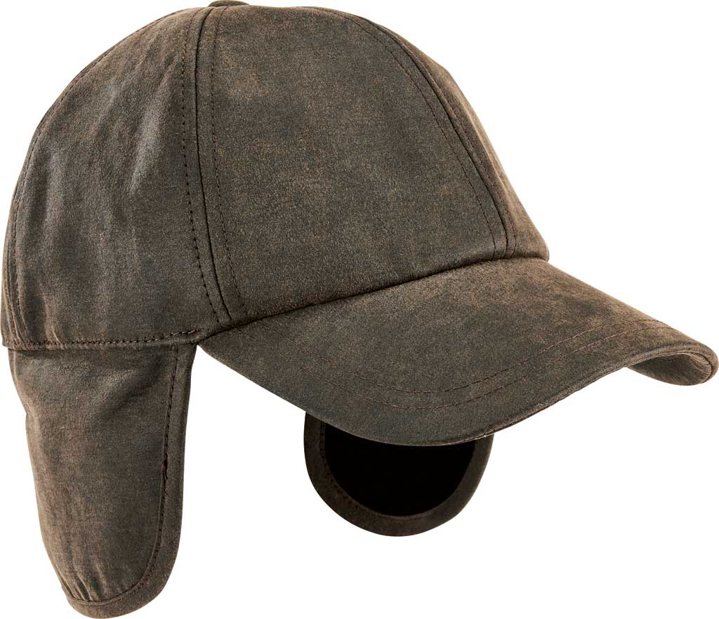 Men's San Diego Hat Company Distressed Baseball Cap CTH3729, Brown, large, image 1