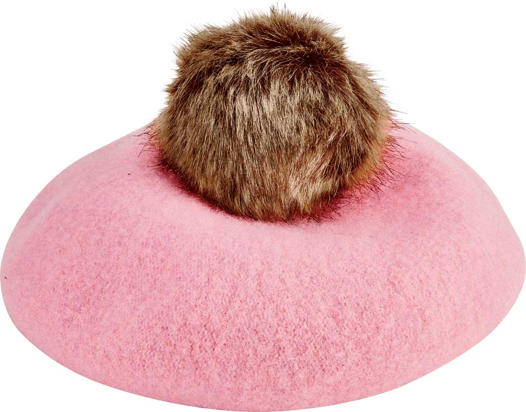 Children's San Diego Hat Company Wool Beret WFK1007, Pink, large, image 1