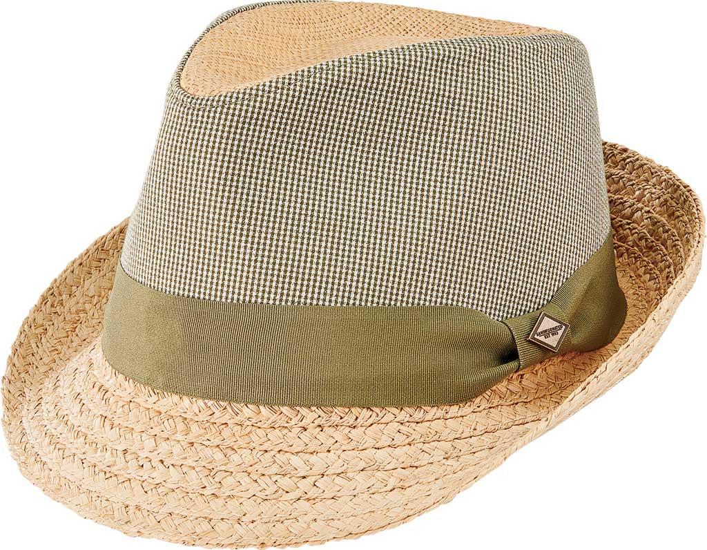 Men's San Diego Hat Company Wheat Straw Braid Applique Fedora SDH9557, Natural, large, image 1