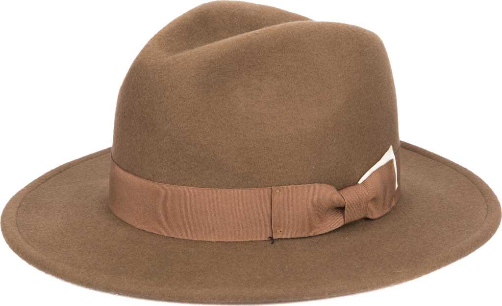 Men's San Diego Hat Company SDH9582 Fedora, Camel, large, image 1