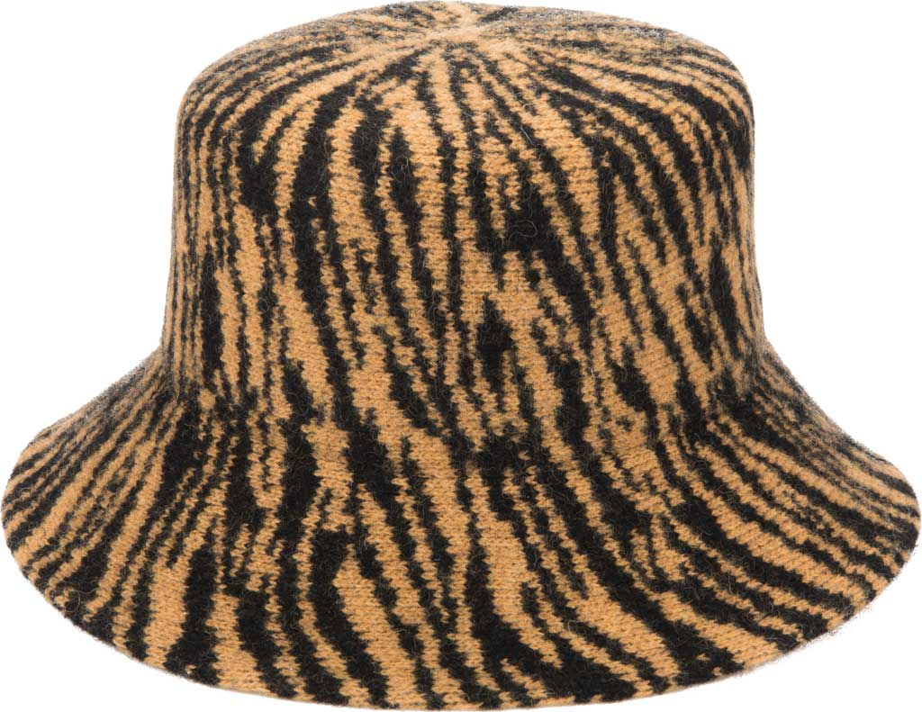 Women's San Diego Hat Company KNH2023 Bucket Hat, Tiger, large, image 1