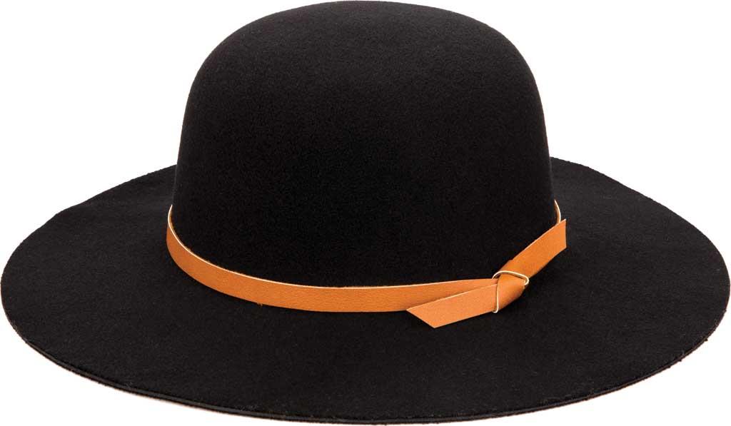 Women's San Diego Hat Company CTH1809 Wide Brim Hat, Black, large, image 1