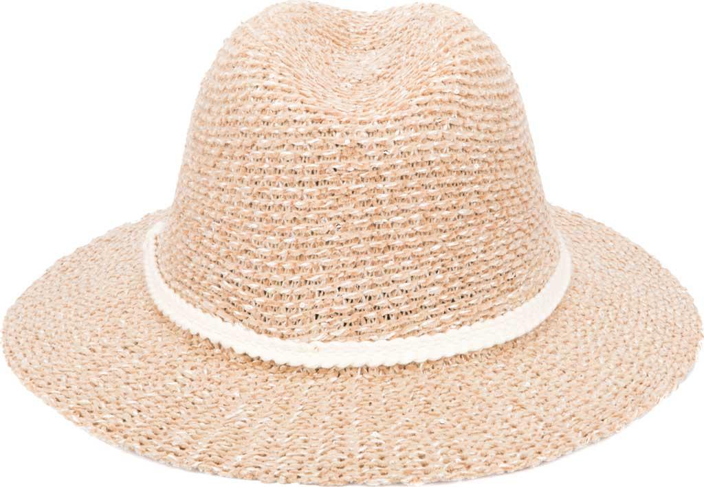 Women's San Diego Hat Company KNH2026 Fedora, Camel, large, image 1