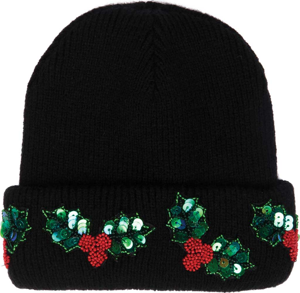 Women's San Diego Hat Company KNH2047 Sequins Beanie, Black, large, image 1