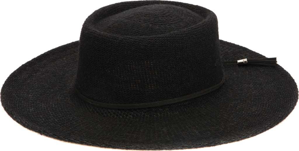 Women's San Diego Hat Company KNH2024 Wide Brim Hat, Black, large, image 1