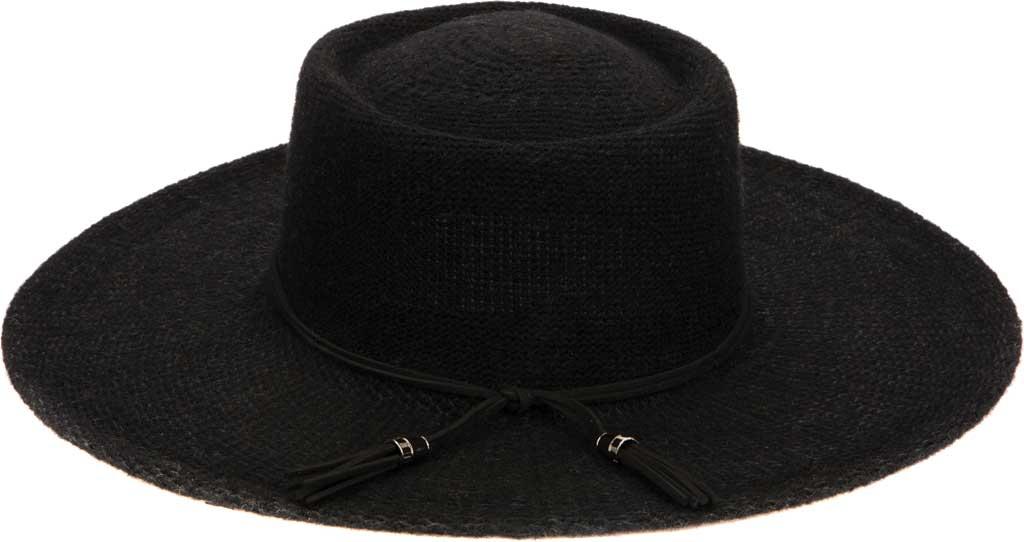 Women's San Diego Hat Company KNH2024 Wide Brim Hat, Black, large, image 2