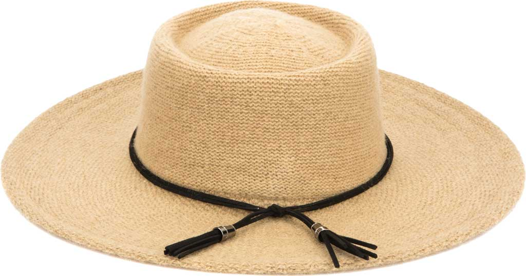 Women's San Diego Hat Company KNH2024 Wide Brim Hat, Camel, large, image 1